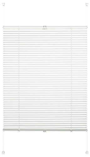 Gardinia Alu-Jalousie zum Klemmen, Sicht-, Licht- und Blendschutz, Alle Montage-Teile inklusive, Alu-Jalousie Easy Move, Weiß, 40 x 130 cm (BxH)
