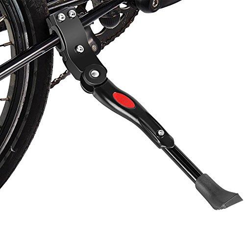 Pingenaneer Fahrradständer Seitenständer Verstellbar Aluminiumlegierung Mountainbike Ständer mit Anti-Rutsch Gummi Fuß für Fahrräder, Rennrad und Klapprad, Schwarze