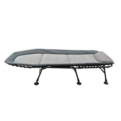 Zfish Deluxe Flat Carp Fishing Chair Bedchair, Grey/Blue, XL from ZFIS5|#Zfish