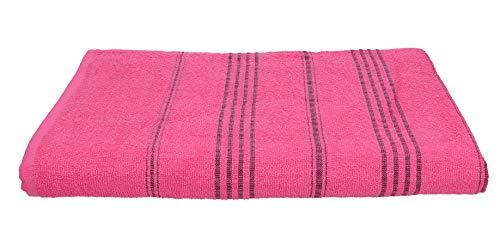 Betz Badetuch XXL Strandtuch Lines 100% Baumwolle Größe 90 x 180 cm Farbe Fuchsia
