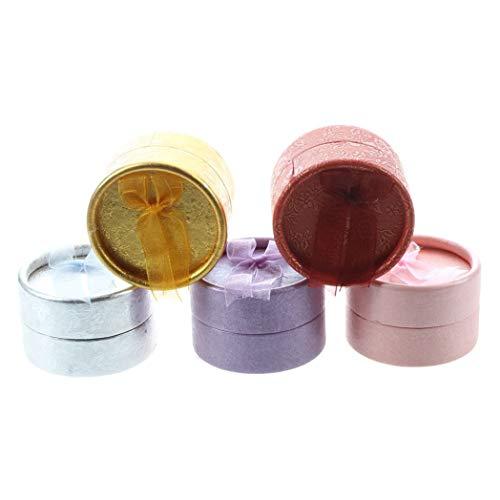 Morning May 5 Stück Karton, rund, Schmuck, Ring, Halskette, Ohrringe, Geschenkbox, Box - 5 Stück Coffret
