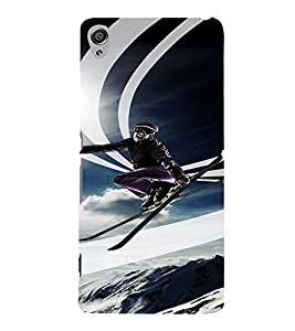 PrintVisa Travel Skiing Adventure Design 3D Hard Polycarbonate Designer Back Case Cover for Sony Xperia XA