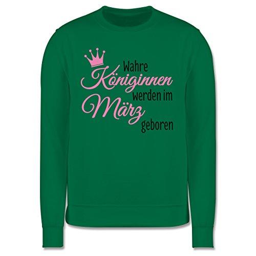 Geburtstag - Wahre Königinnen werden im März geboren - Herren Premium  Pullover Grün