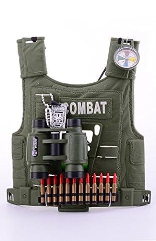 Army Forces Militär Accessoire Set für Kinder Jungen Soldat Kostüm Zubehör Armee