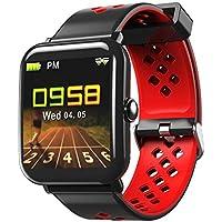 Montre Connectée pour IPhone Bracelet Connecté Intelligent Smartwatch Bluetooth Sport Fitness Tracker D'Activité IP67 Étanche Facebook Podomètre Cardiofréquencemètre,Sommeil avec Écran Tactile pour Femme Homme Enfant