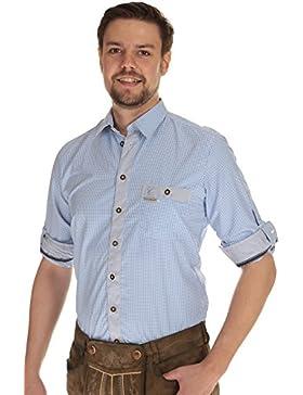Spieth & Wensky Herren Krempelarm Hemd Trachtenhemd Herren Hemd kariert langarm
