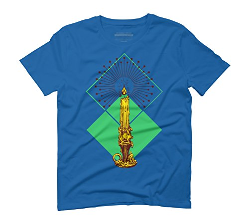 Candle Men's Graphic T-Shirt - Design By Humans Royal Blue