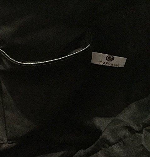 Damen Handtasche Schultertasche Tasche Large Umhängetasche Entwerfer Shopper Henkeltasche, Neu (Schwarz) - 6