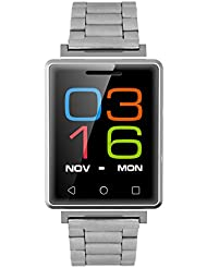 Fitness Tracker Pulse Pulso / Reloj Deportivo Digital Hombre / Reloj Deportivo Con Pulsómetro Sports Fitness Tracker Watch / MUJG7 Reproducción De Vídeo MP4 Cámara Remota Bluetooth - ( Plata )