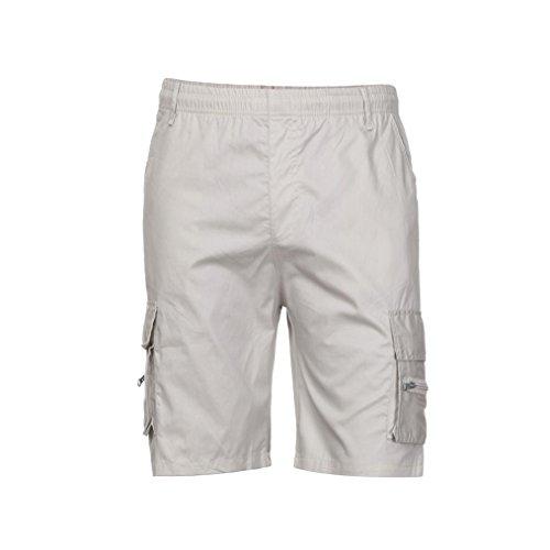 OSYARD Herren Shorts Schlafanzughose, Männer Strandhosen Neu Cargo Sports Work Casual Pyjamahose Armee Kampf ShortsHosen Sommerhosen Pants Freizeithose