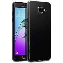 Samsung Galaxy A5 2016 Funda Protectiva de Silicona Gel TPU estrecha - Negro oscuro