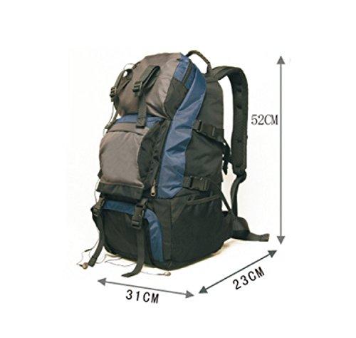 LAIDAYE Außenpaket 40L Schultertaschen Reisetaschen Rucksäcke Bergsteigen Taschen Schultaschen Pakete Hochschule Black