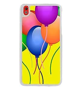 Balloons Clipart 2D Hard Polycarbonate Designer Back Case Cover for HTC Desire 816 :: HTC Desire 816 Dual Sim :: HTC Desire 816G Dual Sim