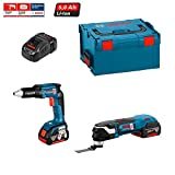 Kit Bosch ECL2P2BE (GSR 18 V-EC TE + GOP 18 V-EC + Zubehör GOP 18 V-EC + Ladegerät AL1860CV + 2 Akkus 5,0 Ah + Koffer L-Boxx 238)