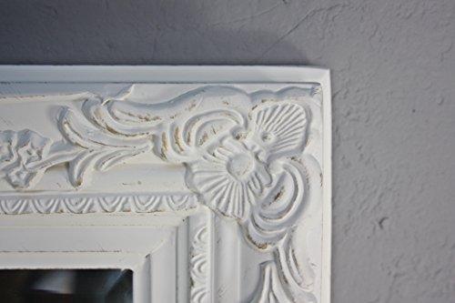 Specchio da parete barocco, bianco antico, legno, stile shabby chic ...