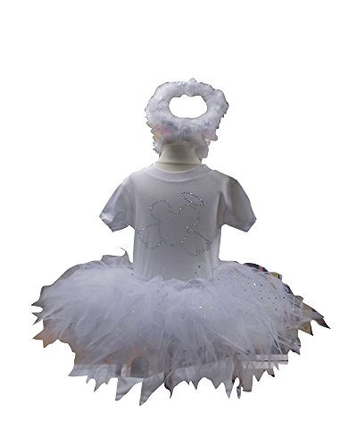 Minnie Christmas Festive Sparkle Girls Baby Tutu Set (0-3 Mths, White Minnie ()