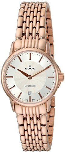 Edox Les Bemonts Ultra Slimm Ladies 'Watch Swiss Movement Analogue Quartz Stainless Steel 57001 37RM AIR