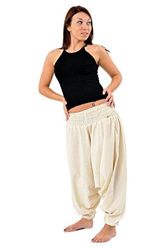 – Pantaloni Sarouel elastico tinta unita Aladin sarwel indiano –