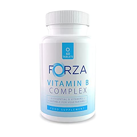 FORZA Vitamin B Complex - 8 B Vitamins In Each Daily Vitamin B Tablet - Vitamins B1 B2 B3 B5 B6 B7 B9 B12 - 60 Tablets