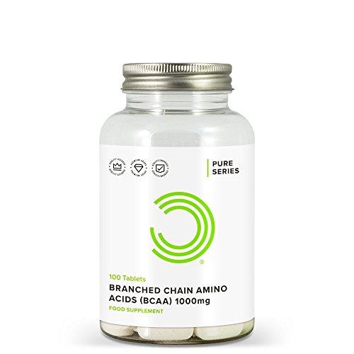 BULK POWDERS verzweigtkettige Aminosäuren (BCAA) Tabletten, 1000 mg, 100 Stück -