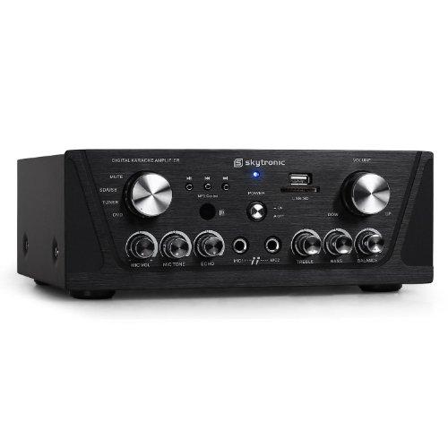 Receptor HiFi Skytronic - MP3-USB-SD, karaoke, compacto