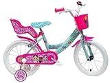 """giordanoshop Bicicletta per Bambina 16"""" 2 Freni LOL Rosa e Celeste"""