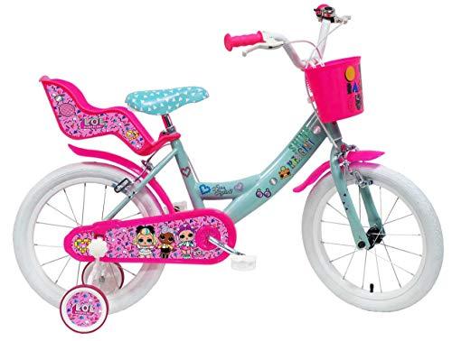 Denver Bike 16 LOL bicicletta Ciudad 40,6 cm (16') Acero Rosa, Turquesa, Blanco Niñas - Bicicleta (Vertical, Ciudad, 40,6 cm (16'), Acero, Rosa, Turquesa, Blanco, 40,6 cm (16'))