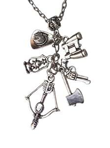 TV inspiré Zombie Charm Collier Rick Grimes Arrow, pistolet et autres Charms