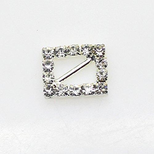 40pcs 15mm x 12mm a forma di cuore Strass fibbia scorrevole per Wedding Invitation Lettera - Diamante Del Nastro Scorrevole