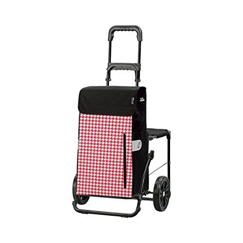 Andersen Shopper Komfort mit Sitz und 43 Liter Tasche Tilly rot mit Kühlfach