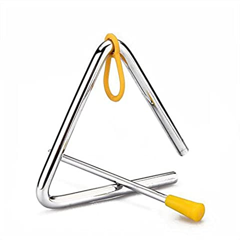 10cm Musical Iron Triangle Bell Percussion Cowboy forgé dîner appelant Bell Toy