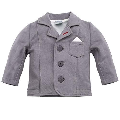 Pinokio - Prince - Baby Jungen Sakko Jacke - Elegant Hochzeit - Jungen Gentleman Suit - Baumwolle Anzüge Grau 0-24 Monate (86 cm, Grau)