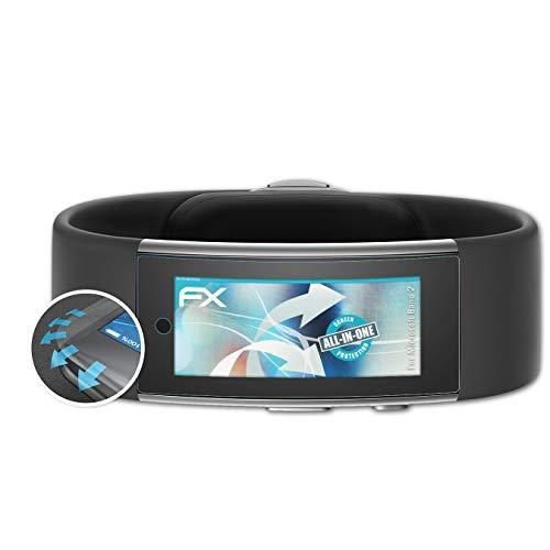 atFoliX Schutzfolie passend für Microsoft Band 2 Folie, ultraklare & Flexible FX Bildschirmschutzfolie (3X)