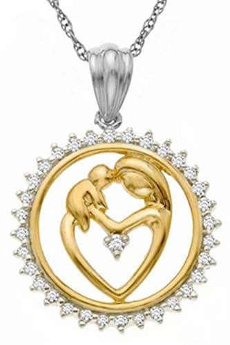 SaySure - S925 Sterling Silver Mother and Child Golden
