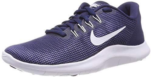 Nike Herren Flex 2018 RN Laufschuhe, Mehrfarbig (Midnight Navy/White/Blue Recall 400), 47 EU - Männer Jordan Schuhe