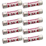 BS1362 3 Amp Fuses Pack of 10 loose fuse links