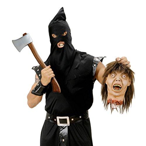 Amakando Halloween AXT Streitaxt 60 cm Zombie Killer Waffe Mörder Spaltaxt Deko Holzaxt Spielzeug Beil