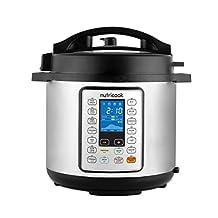 Nutricook Smart Pot Prime by Nutribullet 1000 Watts - 10 in 1 Instant Programmable Electric Pressure Cooker w/ Steam Basket, 6 Liters, 16 Smart Programs, Brushed Stainless Steel/Black, 2 Year Warranty