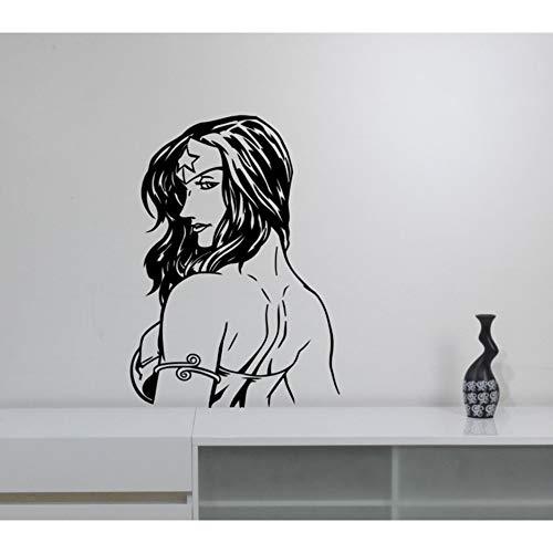 au Wandtattoo Cool Wonder Girls Marvel Comics Wandaufkleber Für Kinderzimmer Jugendliche Schlafzimmer Interior Decor 42 * 80 cm ()