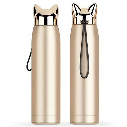 WDCSHJSJD Trinkflasche und Wärmflasche Cool Stainless SteelCoffee Cup Travel -