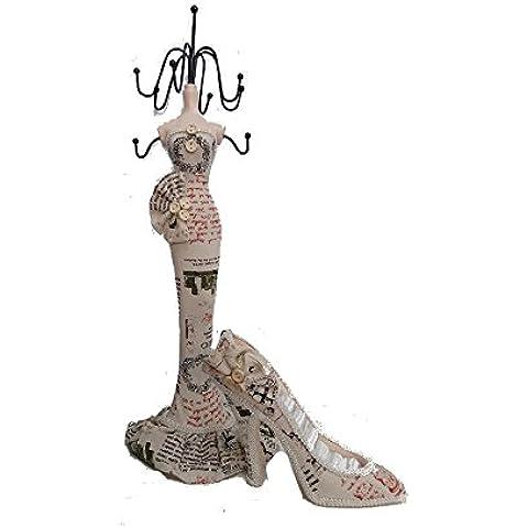 Juego muñeca Puerta collares (H 38cm) + zapato Porta anillos París