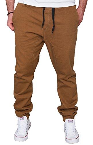 Rock Creek Chino Hose Herren Jogger Harem Style Jogginghose RC-2090-W29-W38 Camel