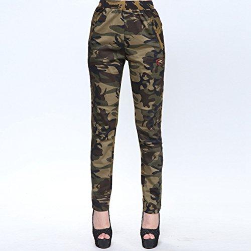 YAANCUN Pantaloni da Mimetici per Donna Pantaloni Mimetici Sportivi Attillati da Allenamento Stretti Skinny Lunghi Pantaloni Camuffare