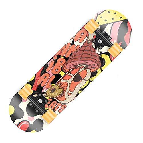 XJLXX Zweirad-Roller für Anfänger und Jugendliche für Erwachsene, Allround-Double-Warping-Shortboard für Erwachsene, 20 × 80 cm Skateboard (Color : B)