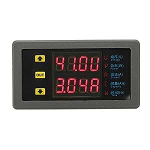 Bluelover VAM-9020 Dual Display Digital Voltmeter Voltage Meter DC Power Ammeter Capacity Table