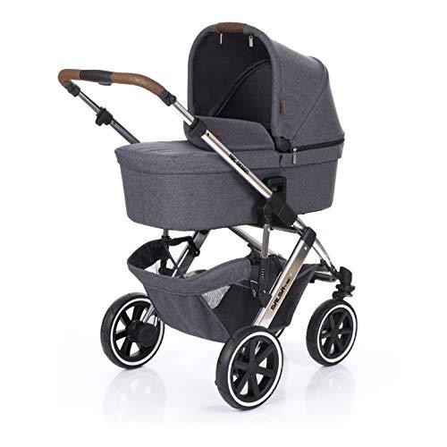 ABC Design Kombi-Kinderwagen Salsa 4 Air - Diamond Special Edition - inkl. Babywanne & Sportsitz - Asphalt -
