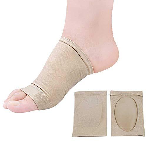 Womdee Kompressionsbandage für Fußgewölbe, Plantarfasziitis, flache Füße, elastische Kupfer-Bandage, Fußbandage für hohe Senkungen, Fersenschmerzen, Laufen für Männer und Frauen (Hautfarbe)