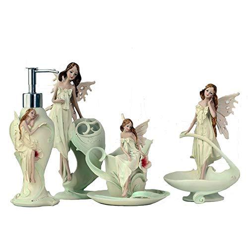 WYTZLY Cuarto de baño de la decoración del ángel de Cuatro Piezas Set de Lavado de Belleza Europeo Enviar un Regalo de Boda de Novias