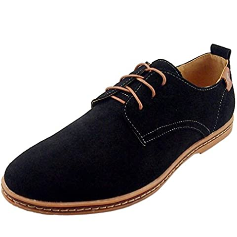 DADAWEN Homme leather Oxford chaussure-Noir 39