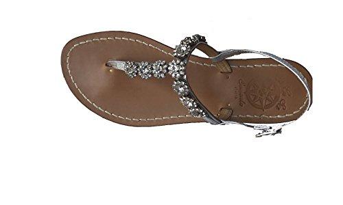 Sandali gioiello swarovski artigianali donna moda capri sorrento positano 100% made in italy personalizzabile modello elena (36 tacco medio, bianco)